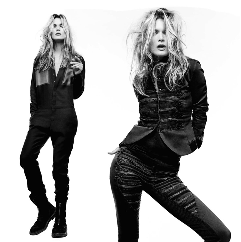 Malgosia Bela Rocks Denim Looks for Superfine's Fall '15 Collection