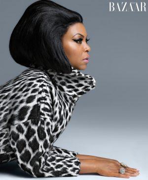 Taraji P Henson Wears Leopard Print Looks for BAZAAR Shoot