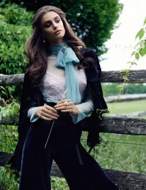 Taylor Hill is 'High Class' in Ladylike Editorial for Vogue Spain