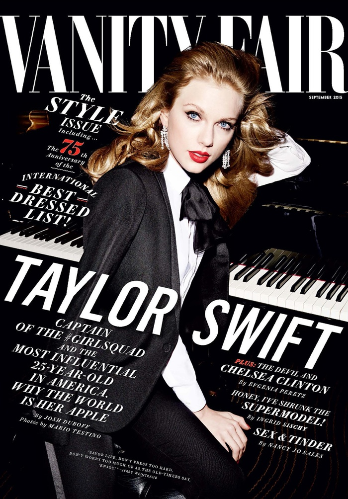 Taylor Swift Turns Up the Glam for Vanity Fair Cover Shoot