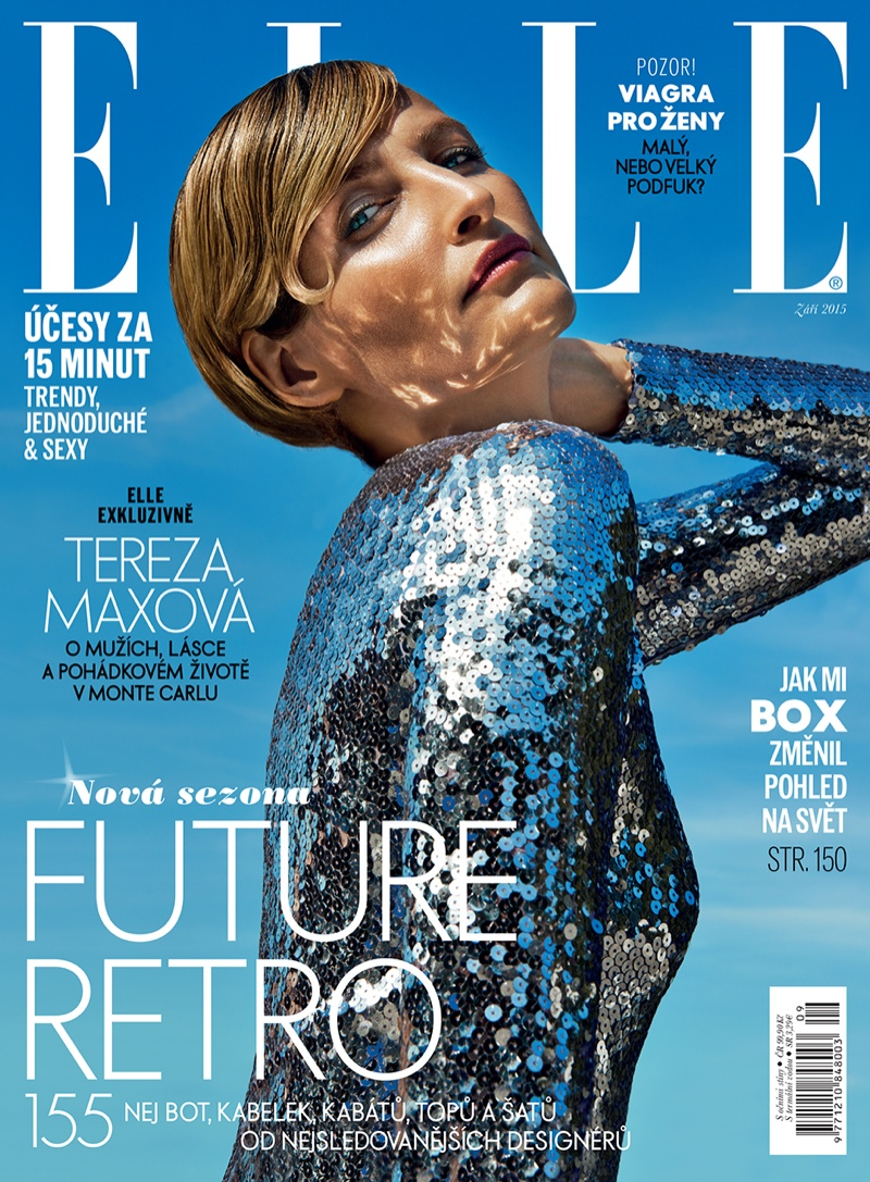 Tereza Maxova on ELLE Czech September 2015 cover
