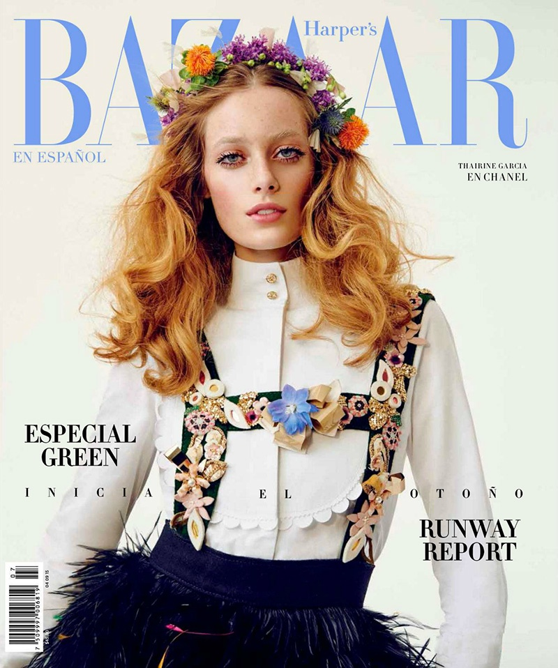 Tharine Garcia Harpers Bazaar Mexico August 2015 Cover Photoshoot01