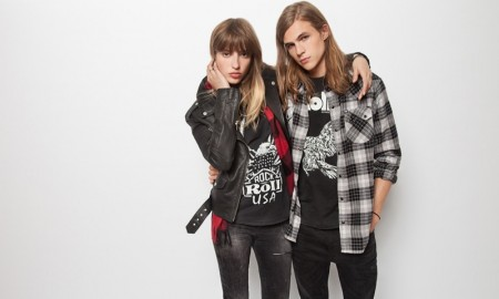 His and hers rock and roll style from the Hilfiger Denim People's Place Originals capsule collection