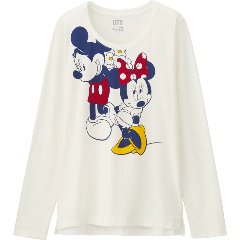 Uniqlo x Disney Minnie and Mickey Mouse Long Sleeve Shirt available for $19.90