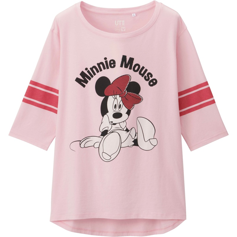 Uniqlo x Disney Minnie Mouse T-Shirt in Pink available for $19.90