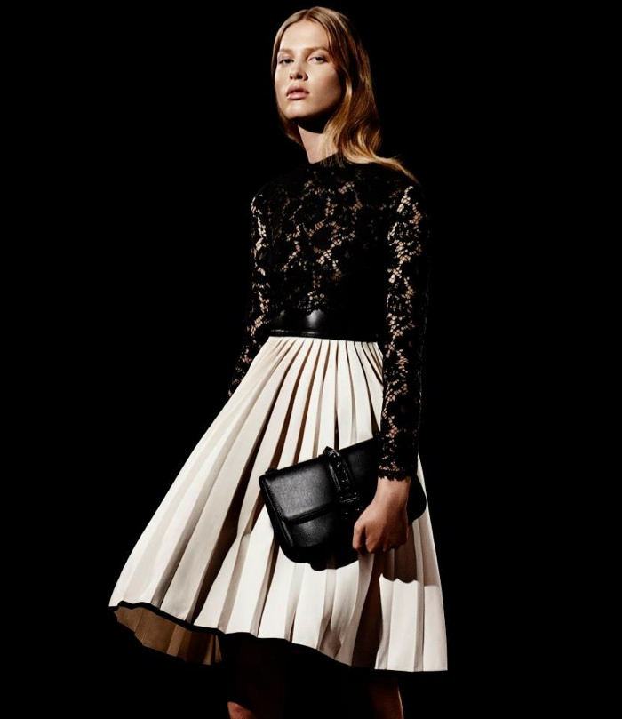 Valentino Combo Long-Sleeve Lace Dress available for $6,290