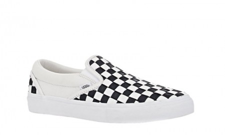VANS x BNY Sole Series: Woven Slip-On Sneakers in White & Black available for $195.00