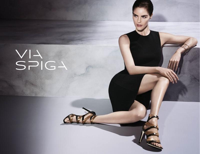 Hilary Rhoda Returns for Via Spiga's Fall 2015 Ads