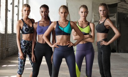 Stella Maxwell, Jasmine Tookes, Elsa Hosk, Martha Hunt and Romee Strijd for Victoria's Secret Sport fall 2015 campaign