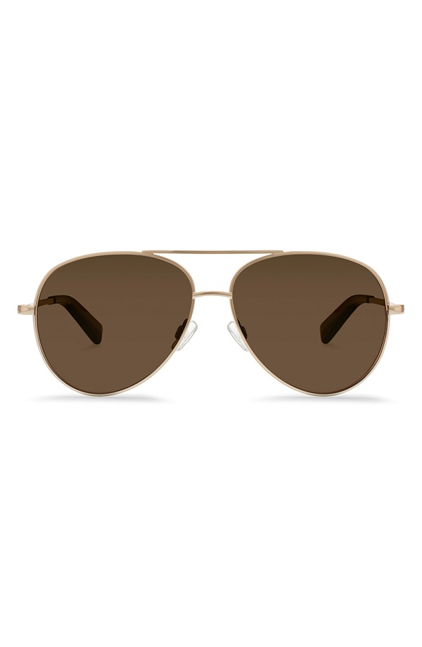 Warby Parker Crossfield Polarized Titanium Aviator Sunglasses