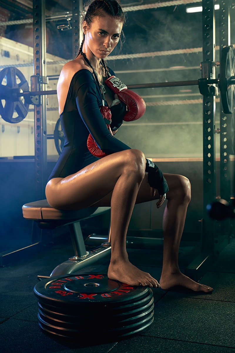 Stephanie Gourlant Works Out in Style for Sunday Times Australia
