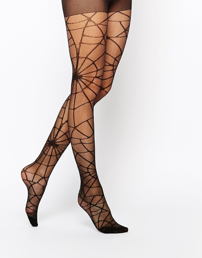 ASOS Halloween Cobweb Tights available for $14.50