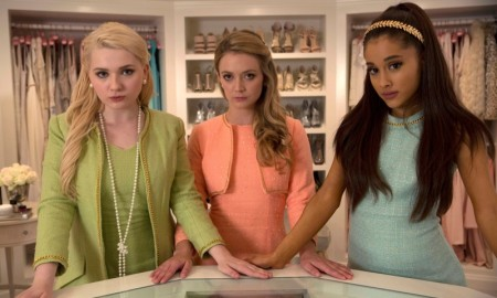 Abigail Breslin, Billie Lourd and Ariana Grande as the Chanels