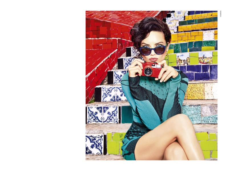 Adriana Lima Lives it Up in Rio for Vogue Eyewear