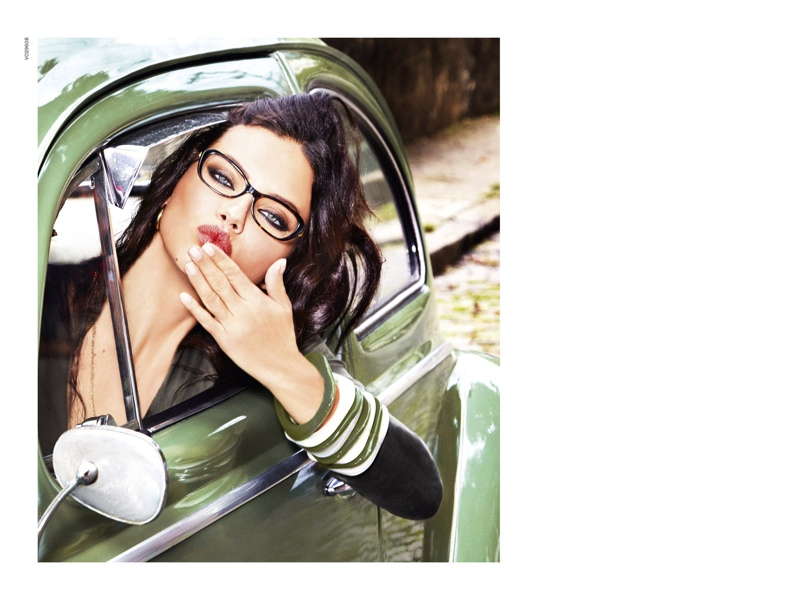 159a1993ae0 Adriana Lima stars in Vogue Eyewear s fall-winter 2015 campaign