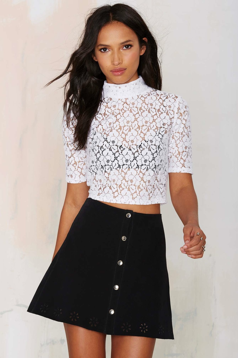 After Party Vintage Lilliana Lace Top