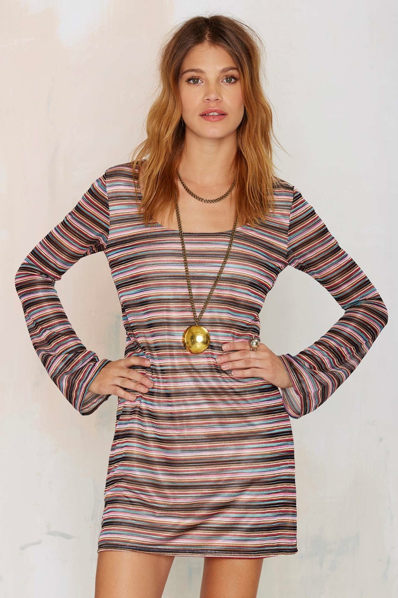 After Party Vintage Melina Striped Dress