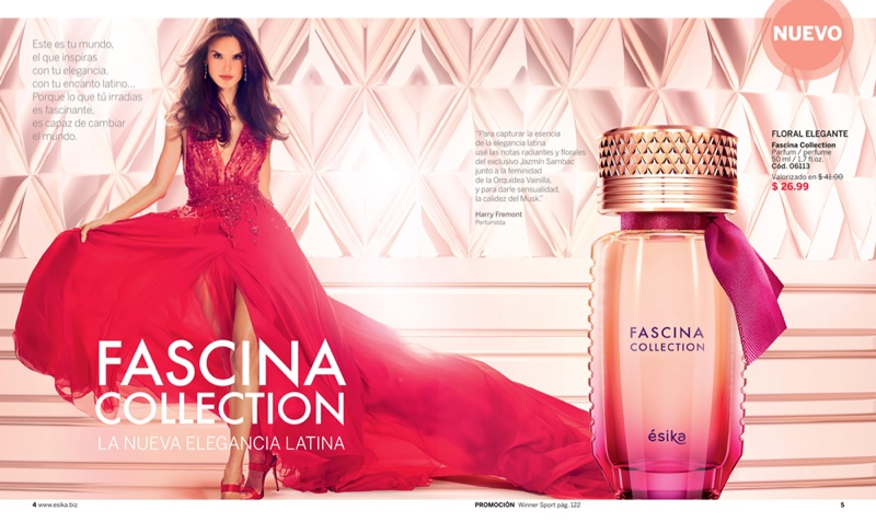 Alessandra Ambrosio is a glamorous vision for Fascina fragrance advertisement