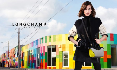 Alexa Chung stars in Longchamp's fall 2015 campaign