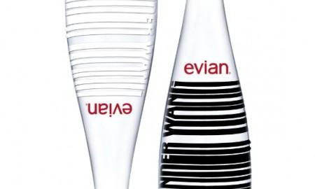 Alexander Wang x evian Limited Edition bottles