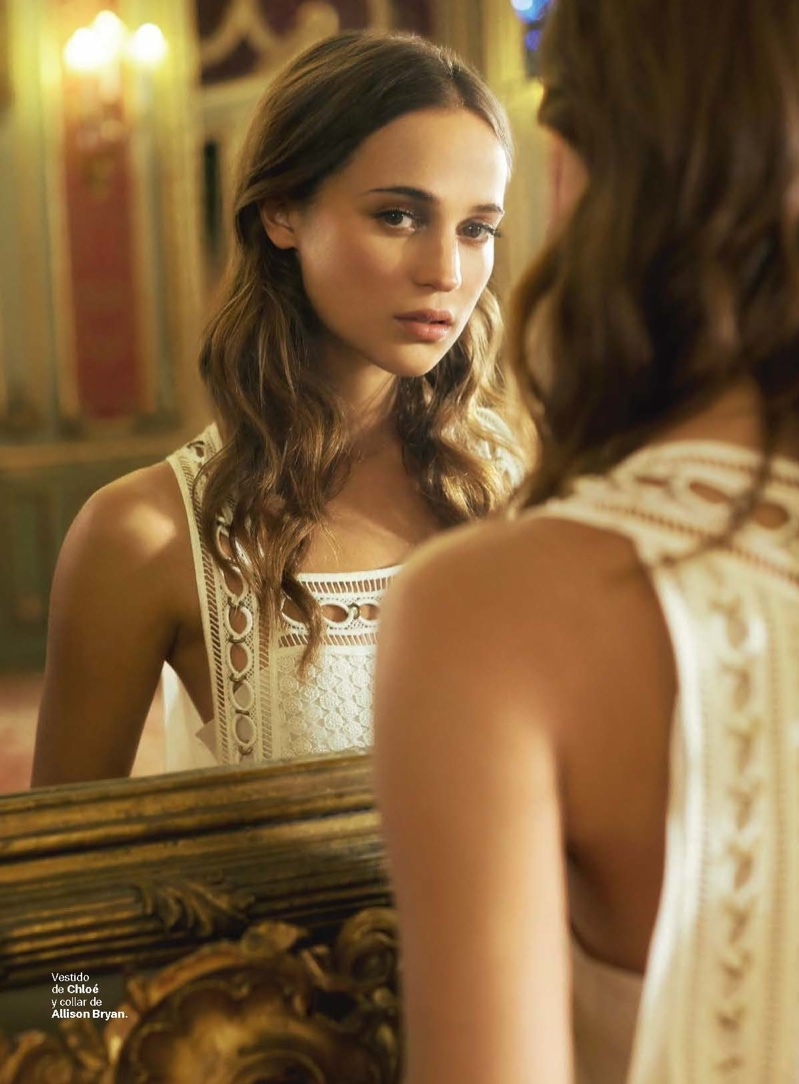 Alicia Vikander Poses in Chic Looks for S Moda Shoot