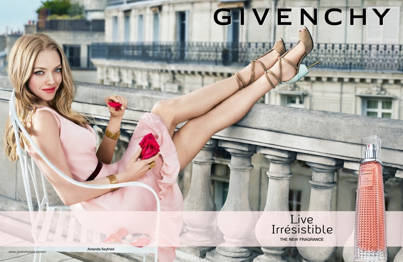 Amanda Seyfried Kicks Up Her Heels for New Givenchy Fragrance Ad