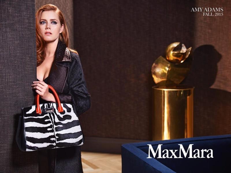 Amy Adams Max Mara Accessories Fall 2015 Ad Campaign