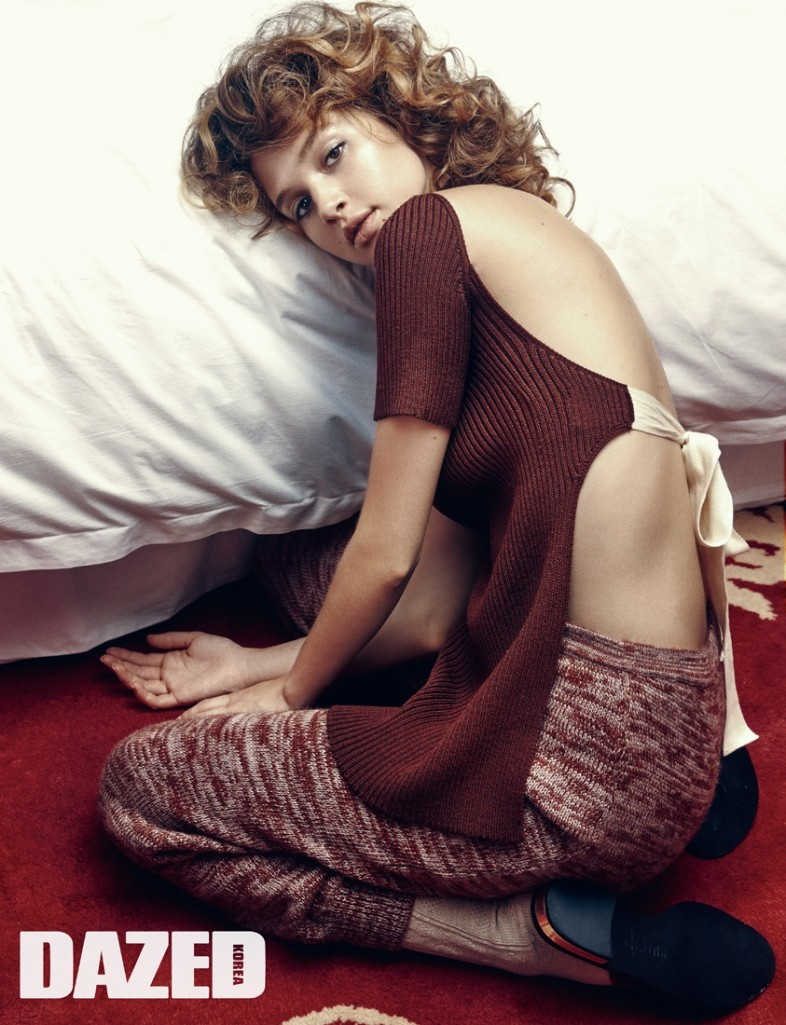 Anais Pouliot Looks Pretty Cosy in Dazed Korea by Shxpir