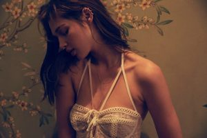 La Belle Époque: Anais Pouliot in For Love & Lemons' Fall 2015 Skivvies Collection