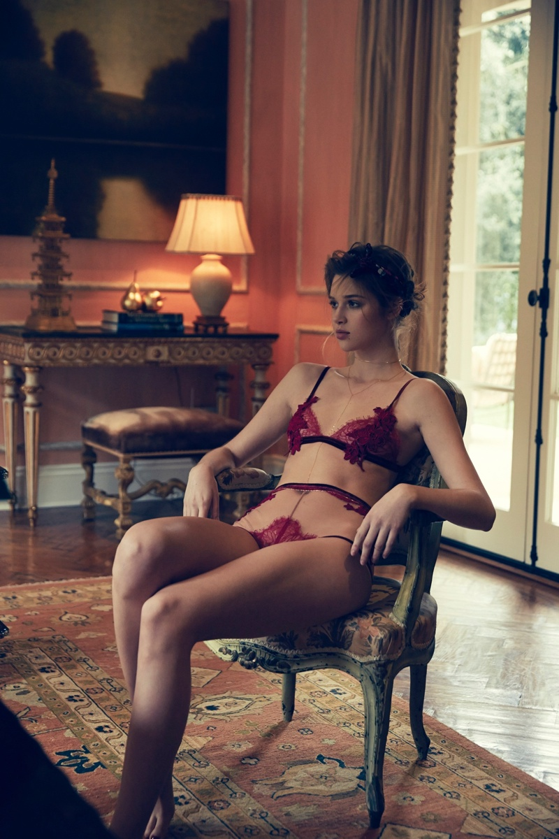 Anais flaunts some skin in a red-hot lingerie look