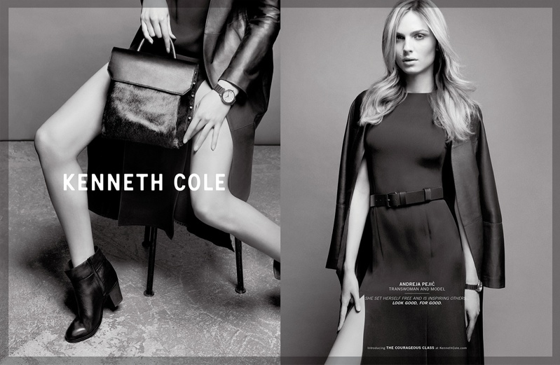 Andreja Pejic Fronts Kenneth Cole Campaign