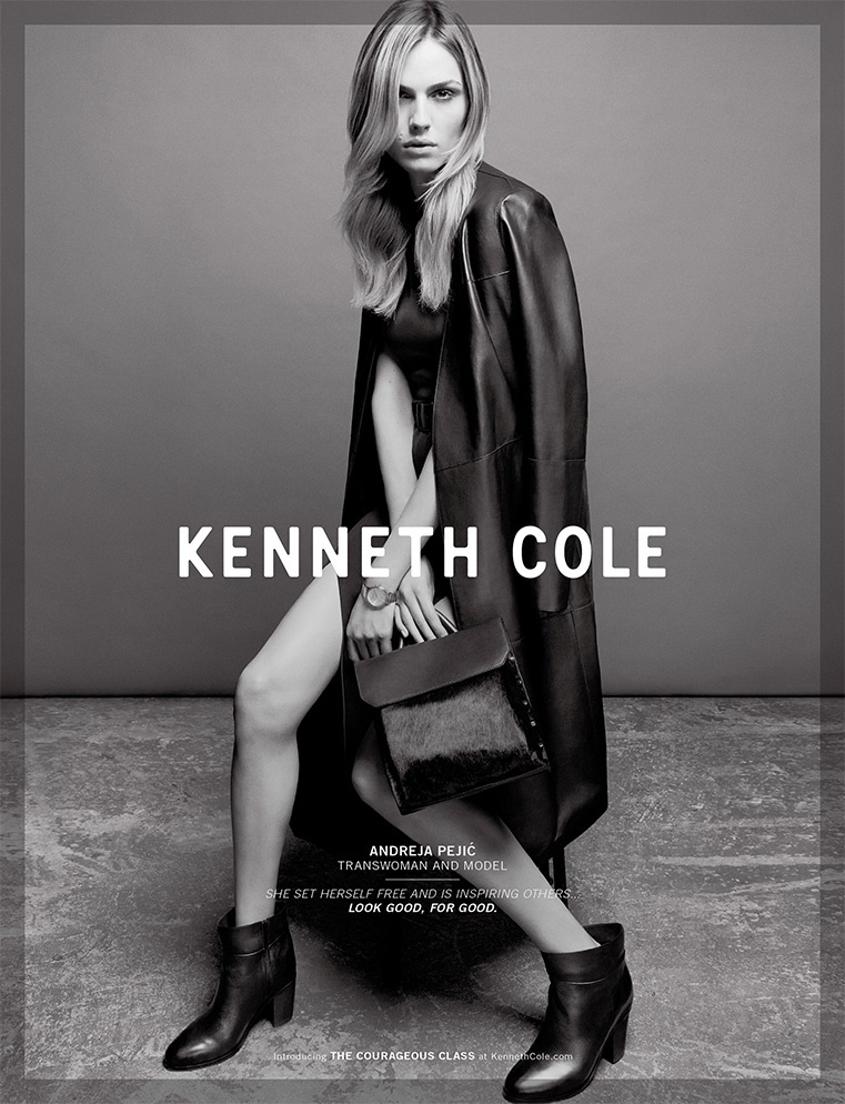 Andreja Pejic for Kenneth Cole