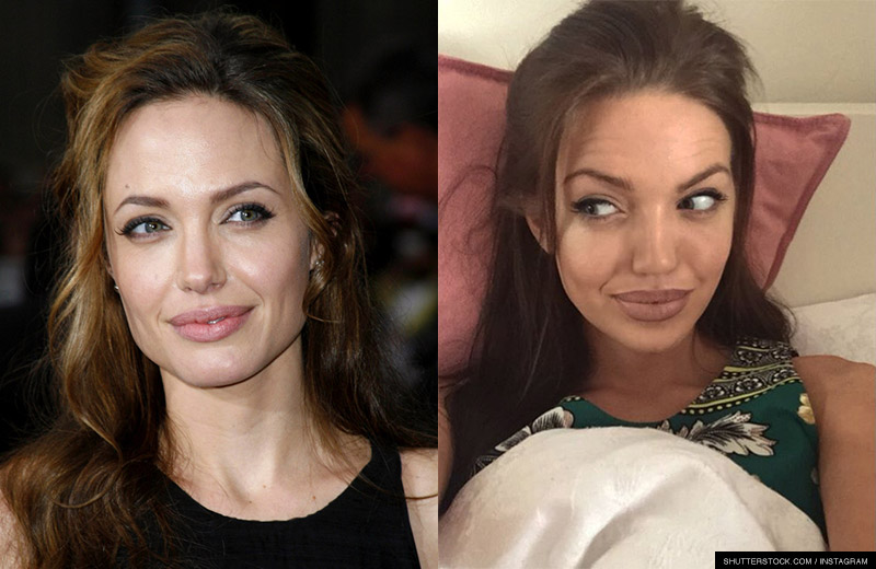 Scottish woman Chelsea Marr has a striking resemblance to Angelina Jolie. Photo: Tinseltown / Shutterstock.com / Instagram