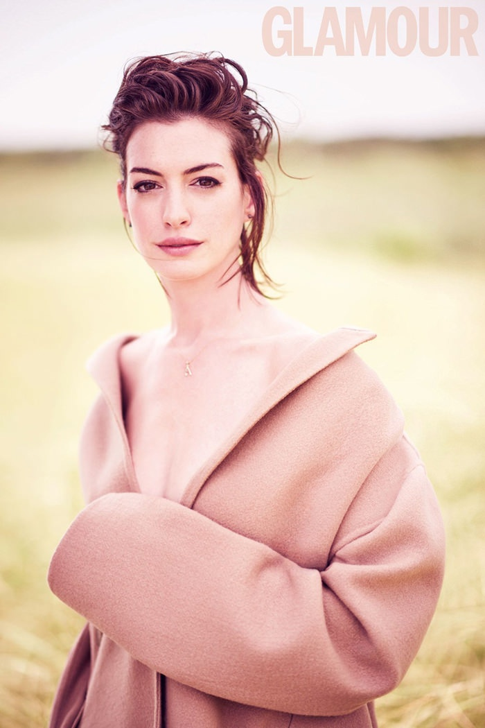 Anne goes topless in an oversized coat look