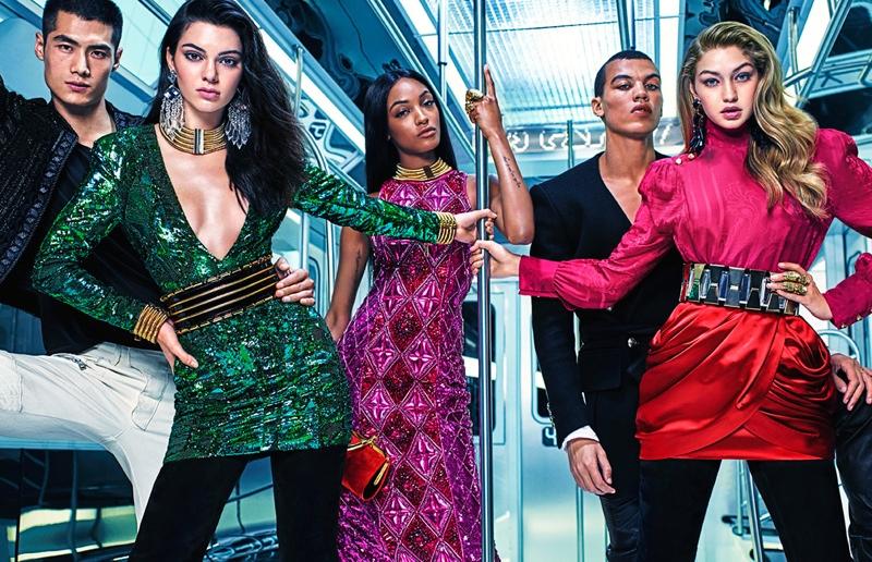 Kendall, Gigi, Jourdan! Balmain x H&M Launches Print Campaign