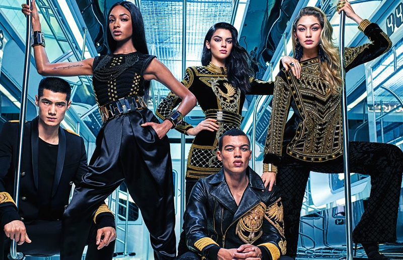 The Balmain x H&M advertisements were photographed by Mario Sorrenti