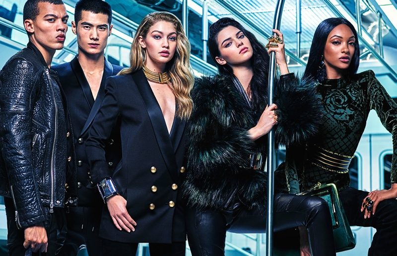An image from Balmain x H&M 2015 campaign