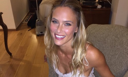 Bride Bar Refaeli is all smiles in her wedding day look