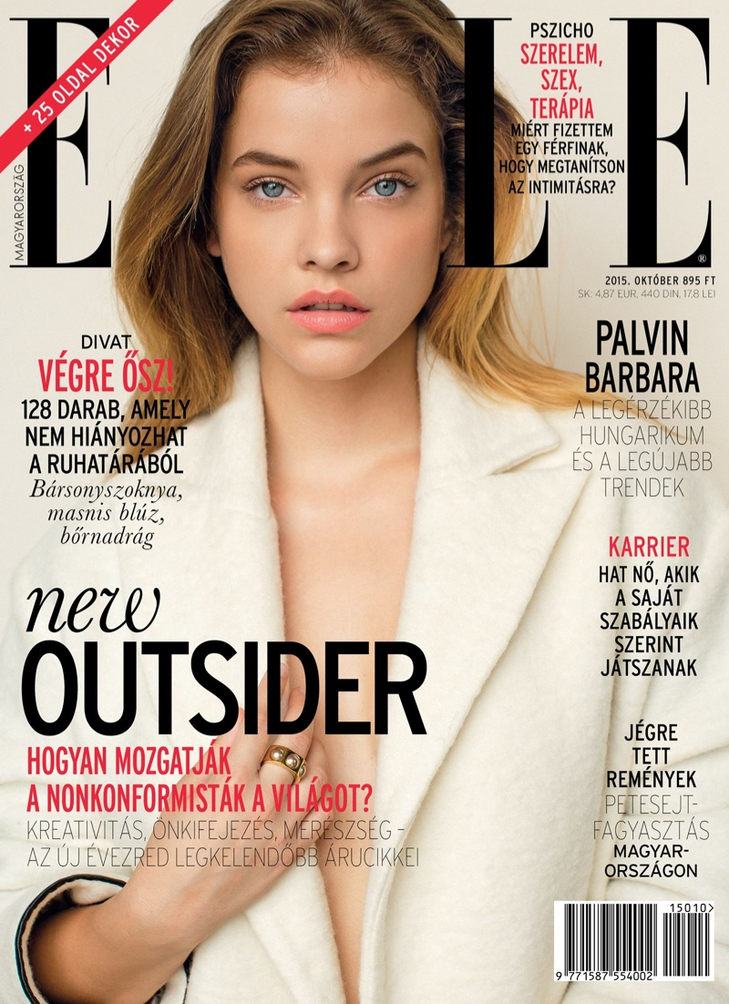 Barbara Palvin Lands ELLE Hungary October 2015 Cover