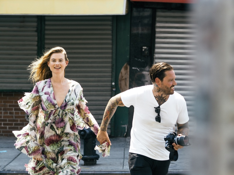 Behati Prinsloo behind the scenes for So It Goes in New York