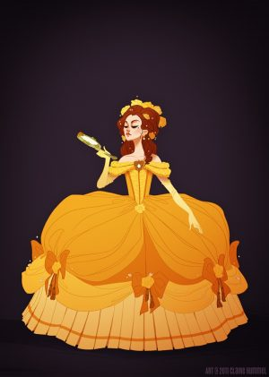 Artist Draws Historically Accurate Disney Princess Dresses