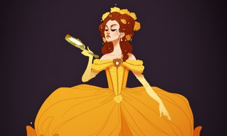 Belle from Beauty & the Beast (1770s France) . Photo: Claire Hummel