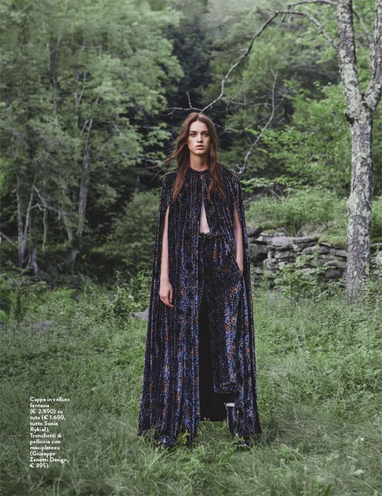 Jenia Ierokhina Wears Dreamy Bohemian Style for Grazia Italy