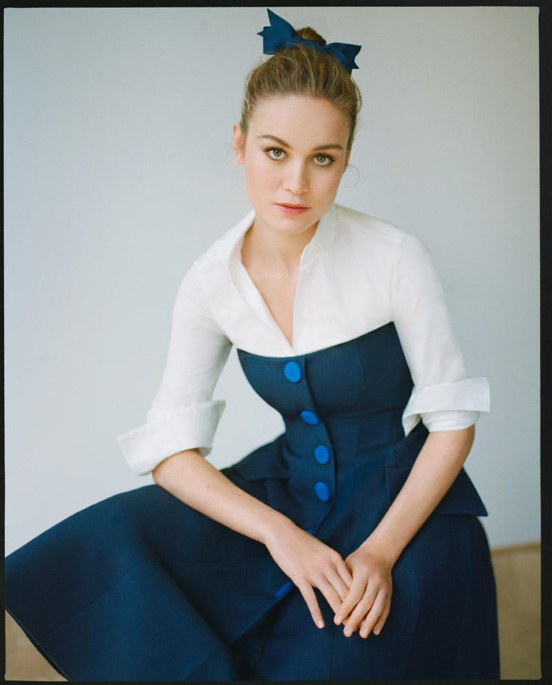 Brie Larson Poses for Thomas Whiteside in Vogue