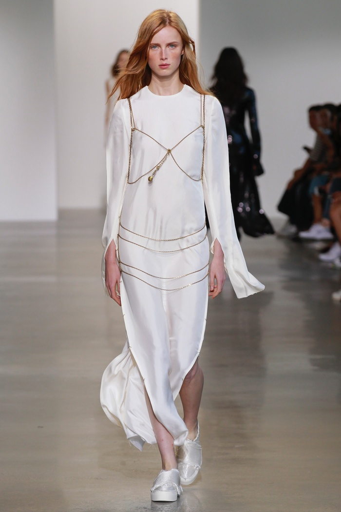 A look from Calvin Klein Collection's spring 2016 show