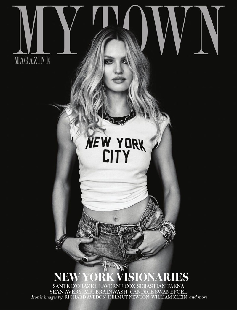 Candice Swanepoel on My Town cover