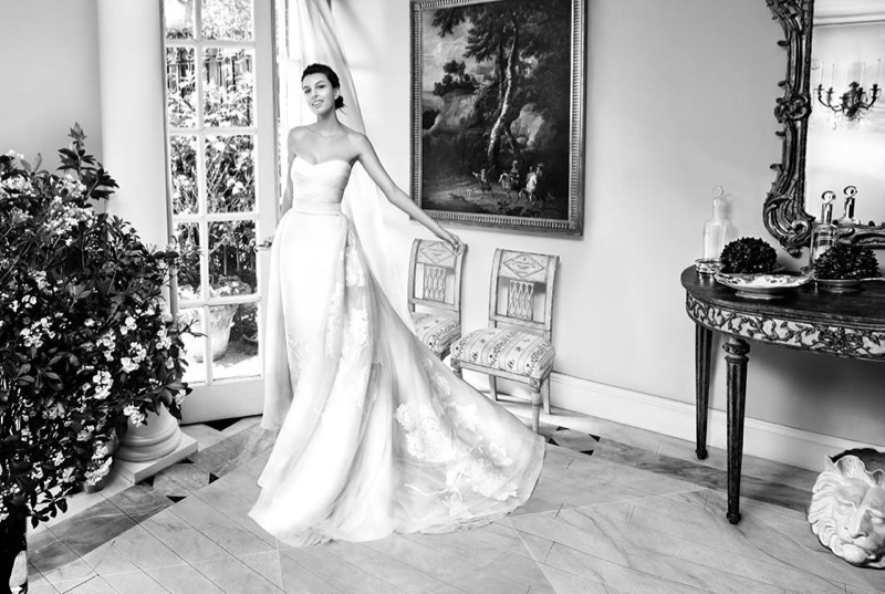Kate King stars in Carolina Herrera's spring-summer 2016 bridal campaign