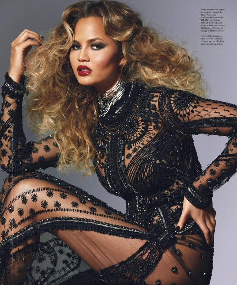 Chrissy Teigen Channels Disco Glamour for Modern Luxury Cover Story