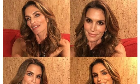 Cindy Crawford backstage at 'Late Night with Seth Meyer'
