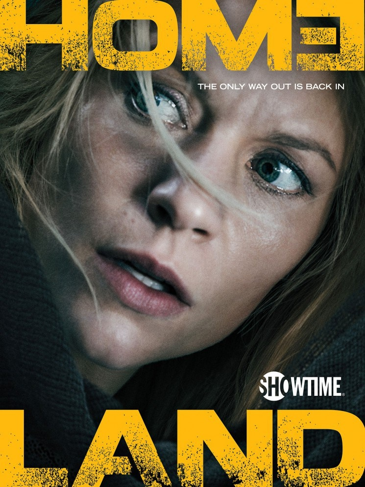 Claire Danes stars in Homeland season 5 promotional artwork including this poster. The fifth season of Homeland premieres on October 4.